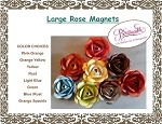 Metal Rose Magnets