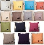 Top quality  Solid Color Cotton Linen Square Design Throw Pillow Cover